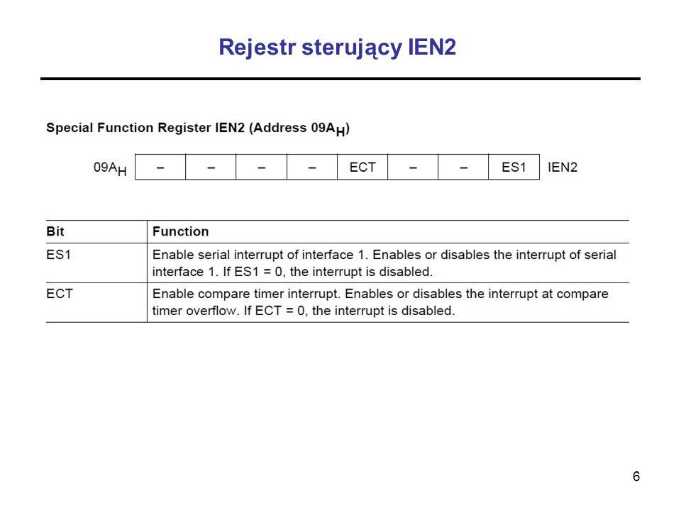 Rejestr sterujący IEN2