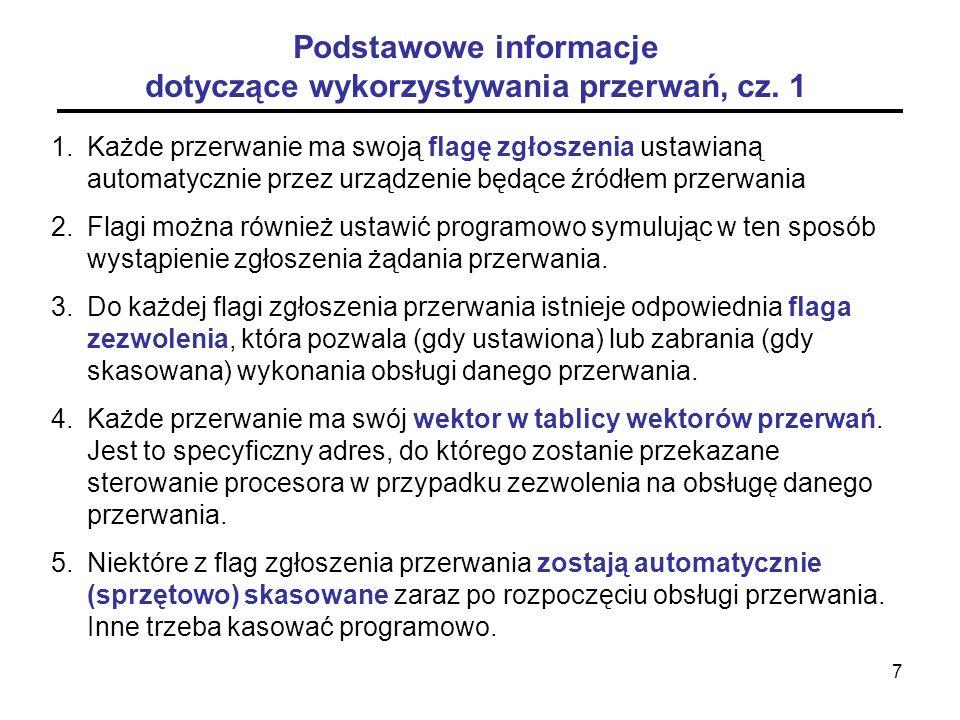Podstawowe informacje dotyczące wykorzystywania przerwań, cz. 1