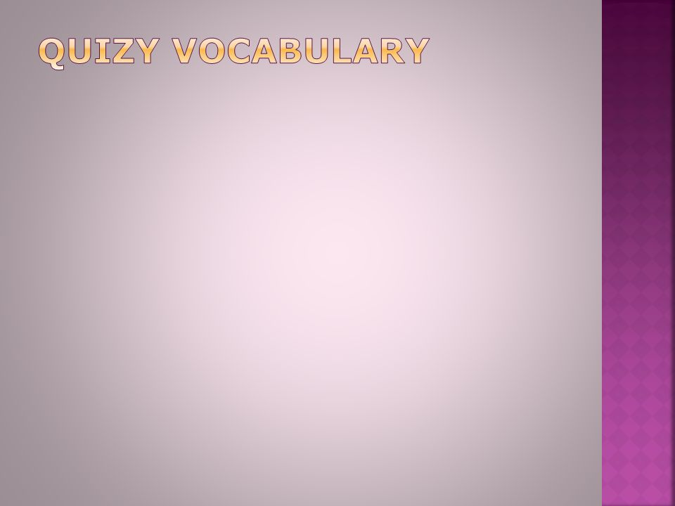 quizy vocabulary