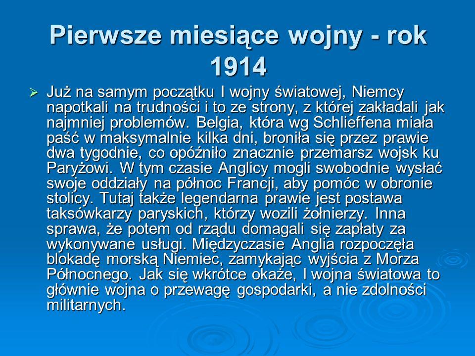 Pierwsze miesiące wojny - rok 1914