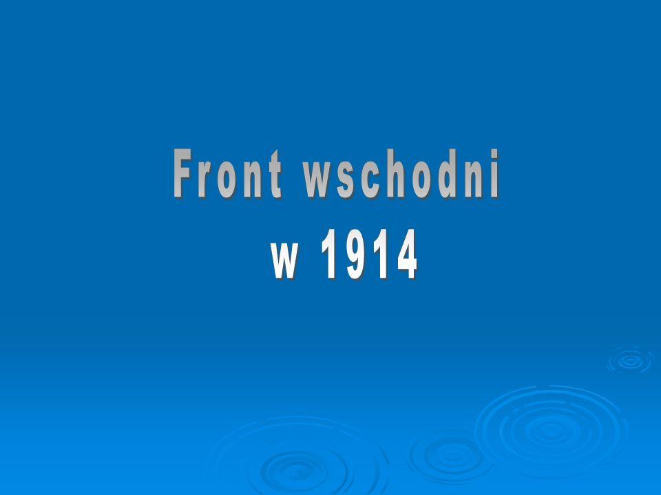 Front wschodni w 1914