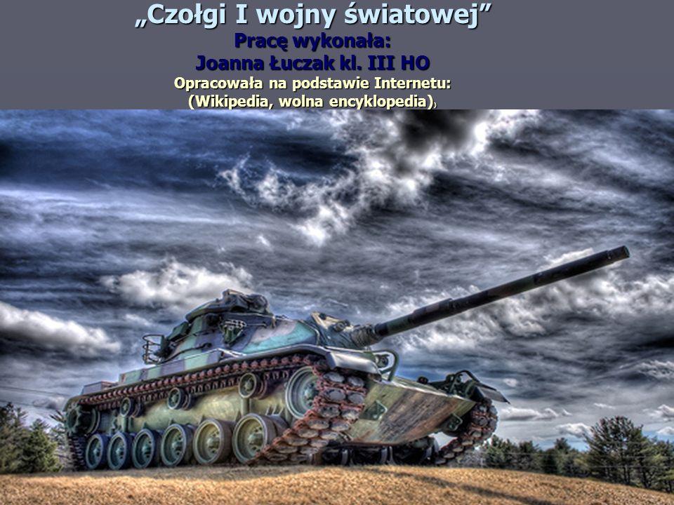"""""""Czołgi I wojny światowej"""
