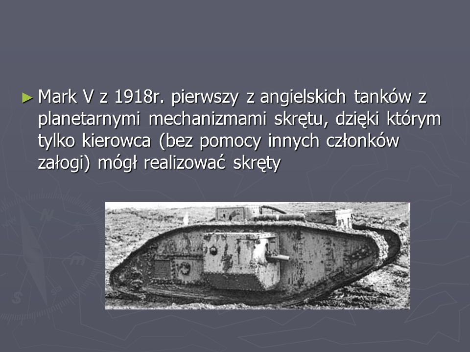 Mark V z 1918r.
