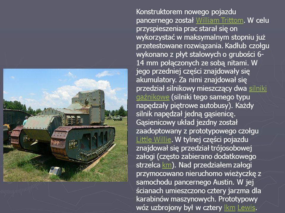 Konstruktorem nowego pojazdu pancernego został William Trittom