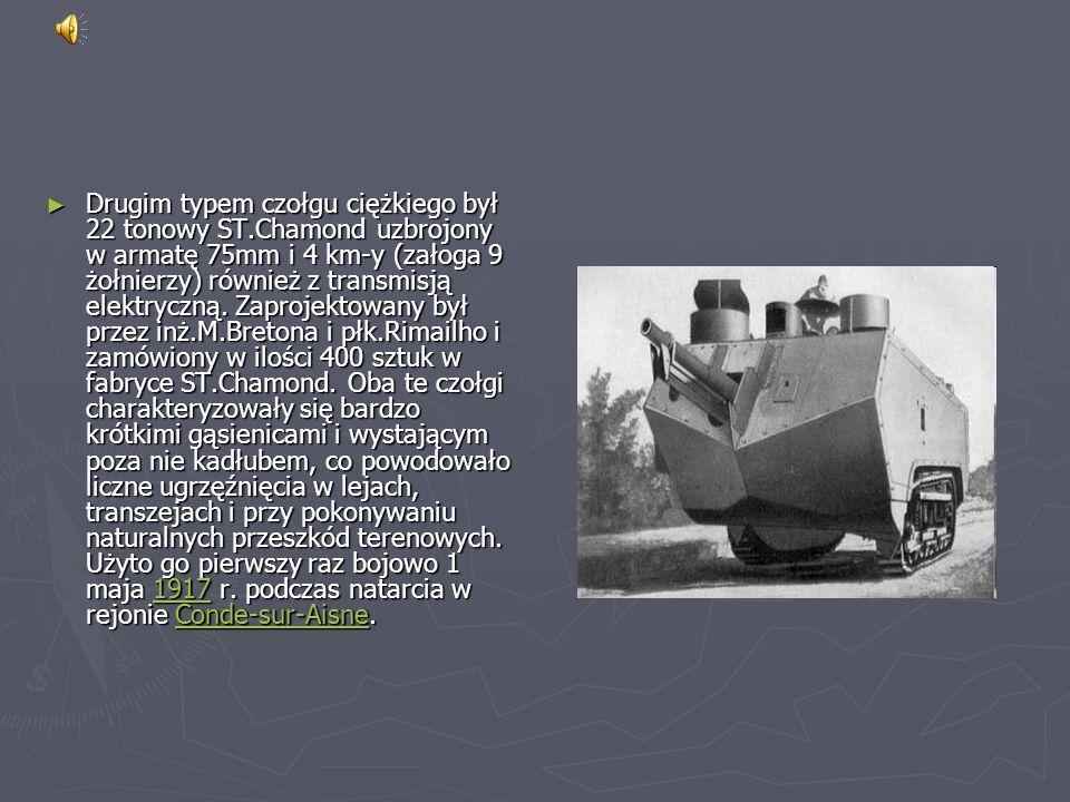 Drugim typem czołgu ciężkiego był 22 tonowy ST