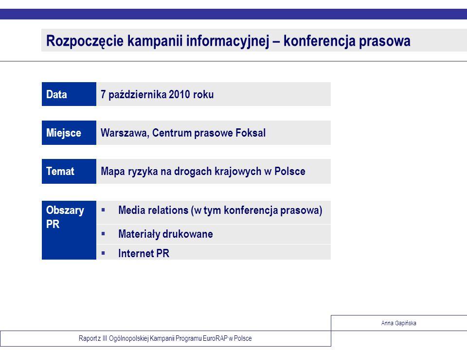 Rozpoczęcie kampanii informacyjnej – konferencja prasowa