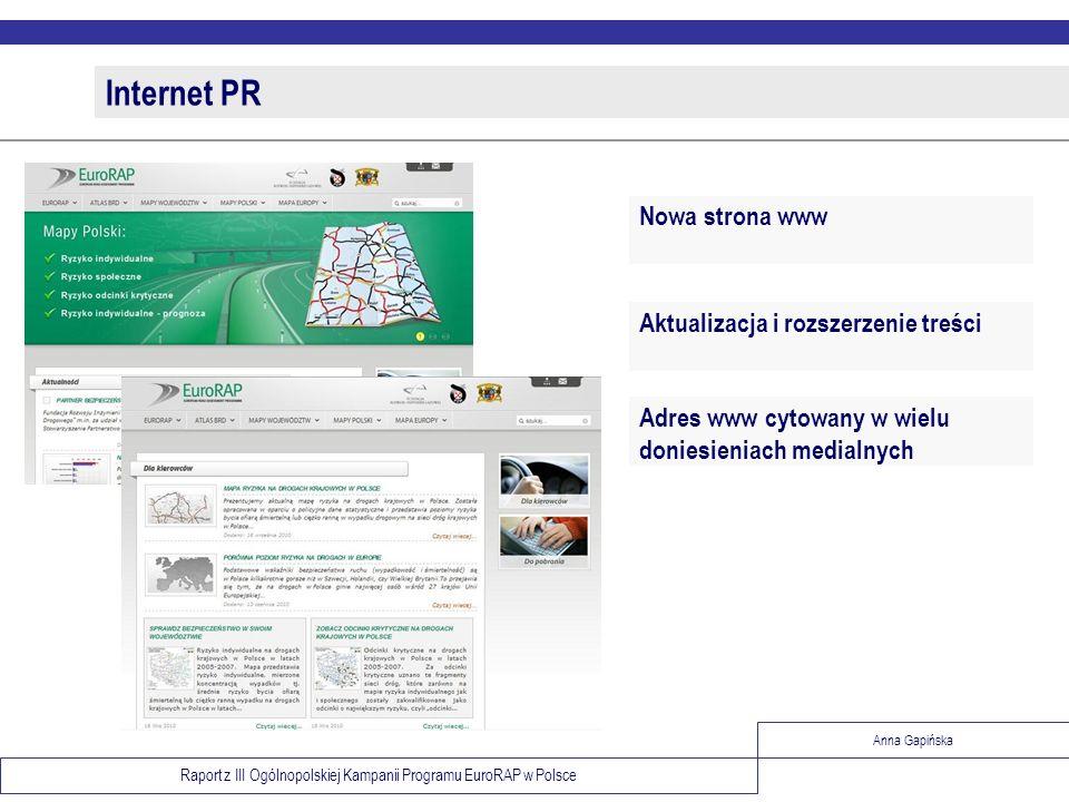 Internet PR Nowa strona www Aktualizacja i rozszerzenie treści