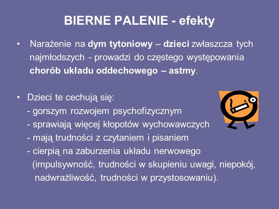 BIERNE PALENIE - efekty