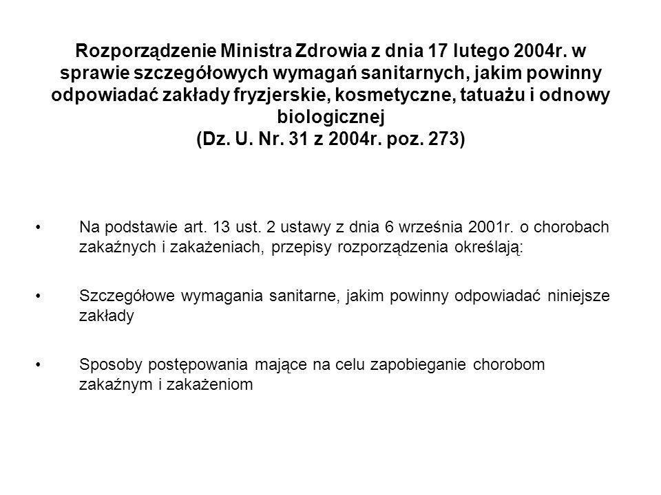 Rozporządzenie Ministra Zdrowia z dnia 17 lutego 2004r