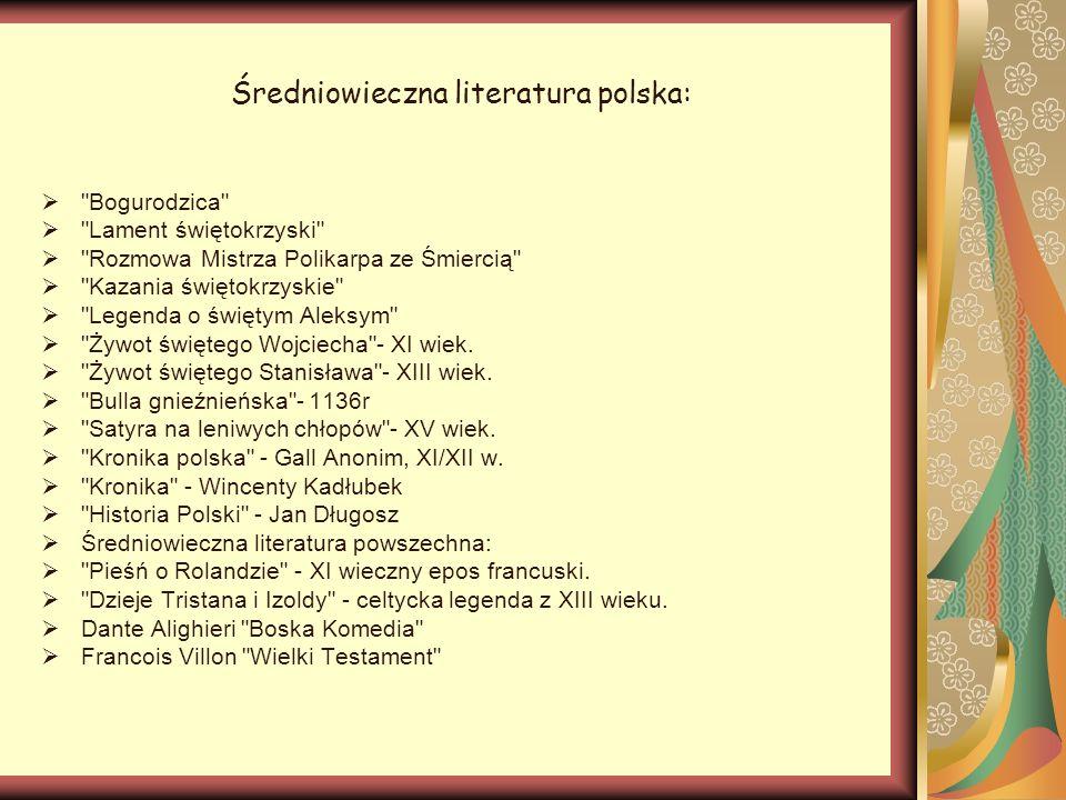 Średniowieczna literatura polska: