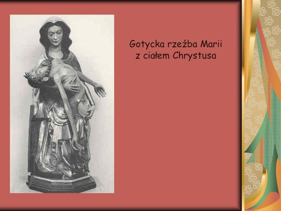 Gotycka rzeźba Marii z ciałem Chrystusa