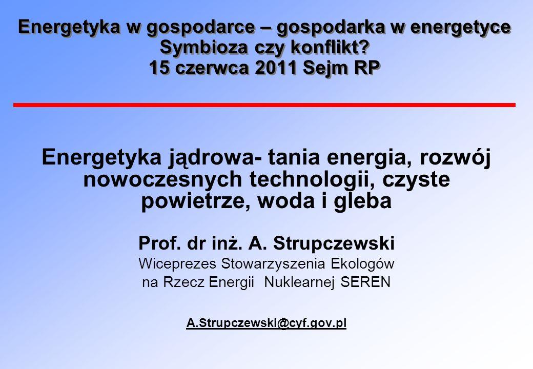 Prof. dr inż. A. Strupczewski