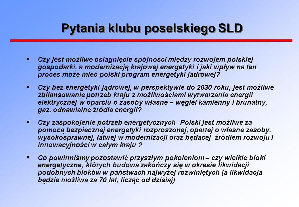 Pytania klubu poselskiego SLD