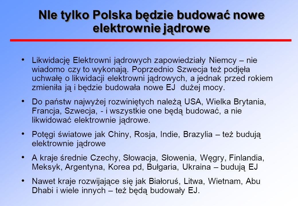 NIe tylko Polska będzie budować nowe elektrownie jądrowe