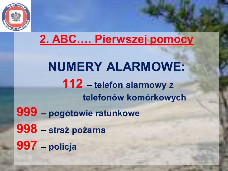 NUMERY ALARMOWE: 112 – telefon alarmowy z 999 – pogotowie ratunkowe