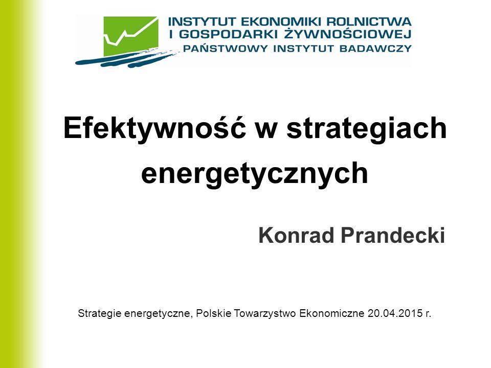 Efektywność w strategiach energetycznych