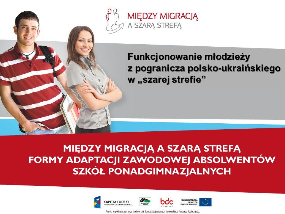 """Funkcjonowanie młodzieży z pogranicza polsko-ukraińskiego w """"szarej strefie"""