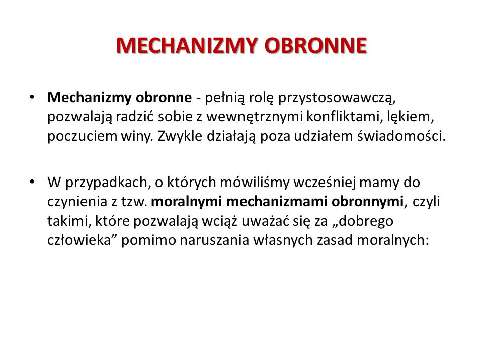 MECHANIZMY OBRONNE