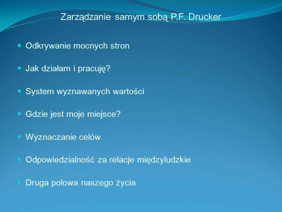 Zarządzanie samym sobą P.F. Drucker