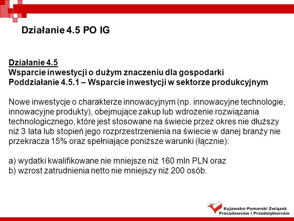 Działanie 4.5 PO IG Działanie 4.5