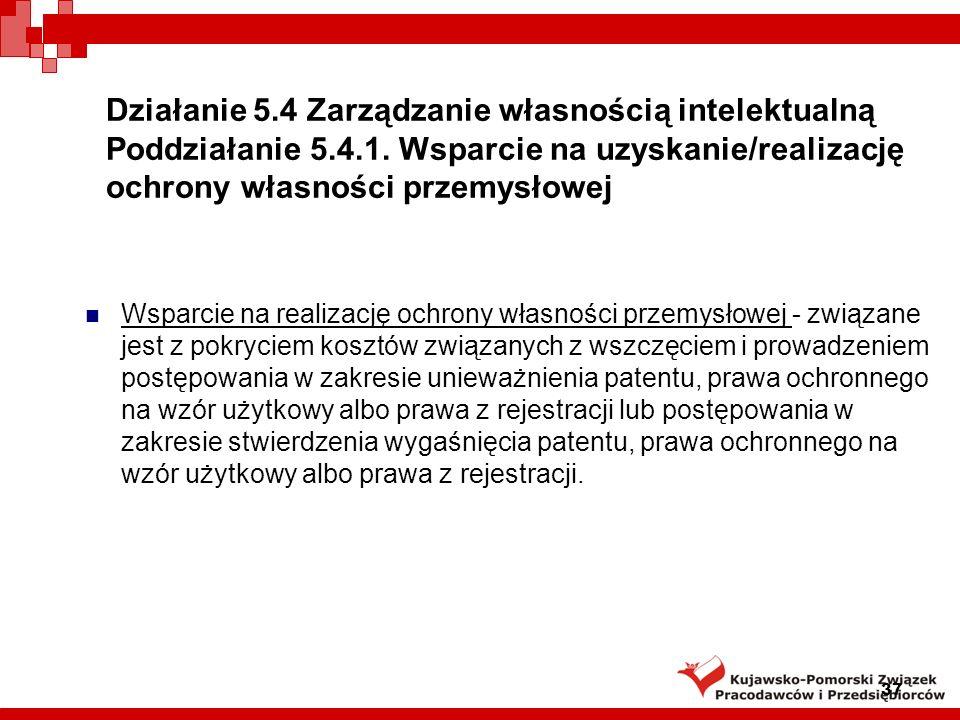 Działanie 5. 4 Zarządzanie własnością intelektualną Poddziałanie 5. 4