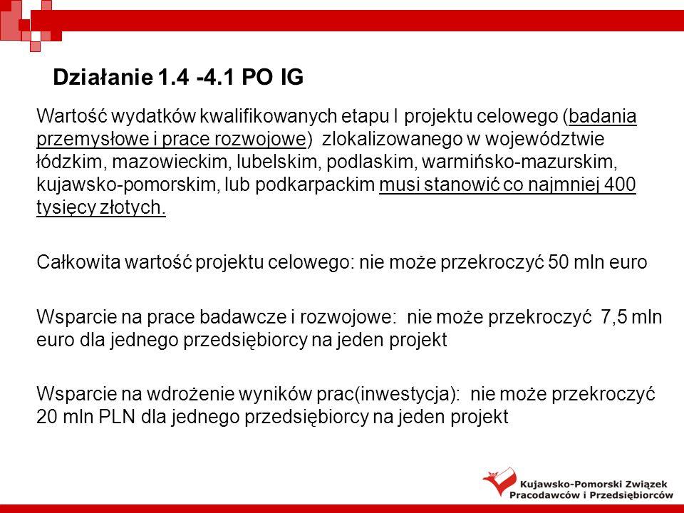 Działanie 1.4 -4.1 PO IG
