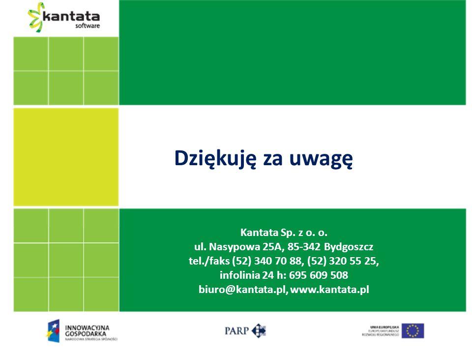 ul. Nasypowa 25A, 85-342 Bydgoszcz biuro@kantata.pl, www.kantata.pl