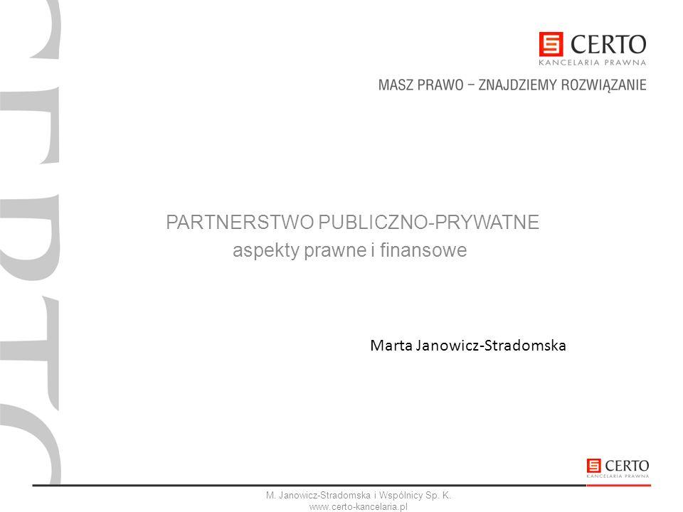 PARTNERSTWO PUBLICZNO-PRYWATNE aspekty prawne i finansowe