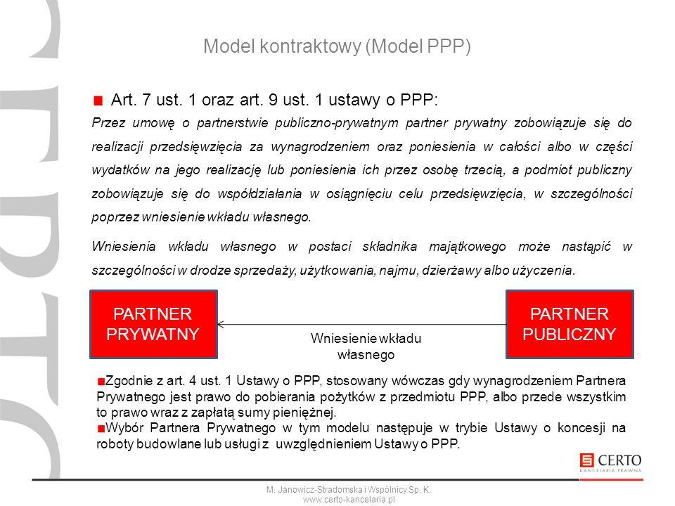Model kontraktowy (Model PPP)