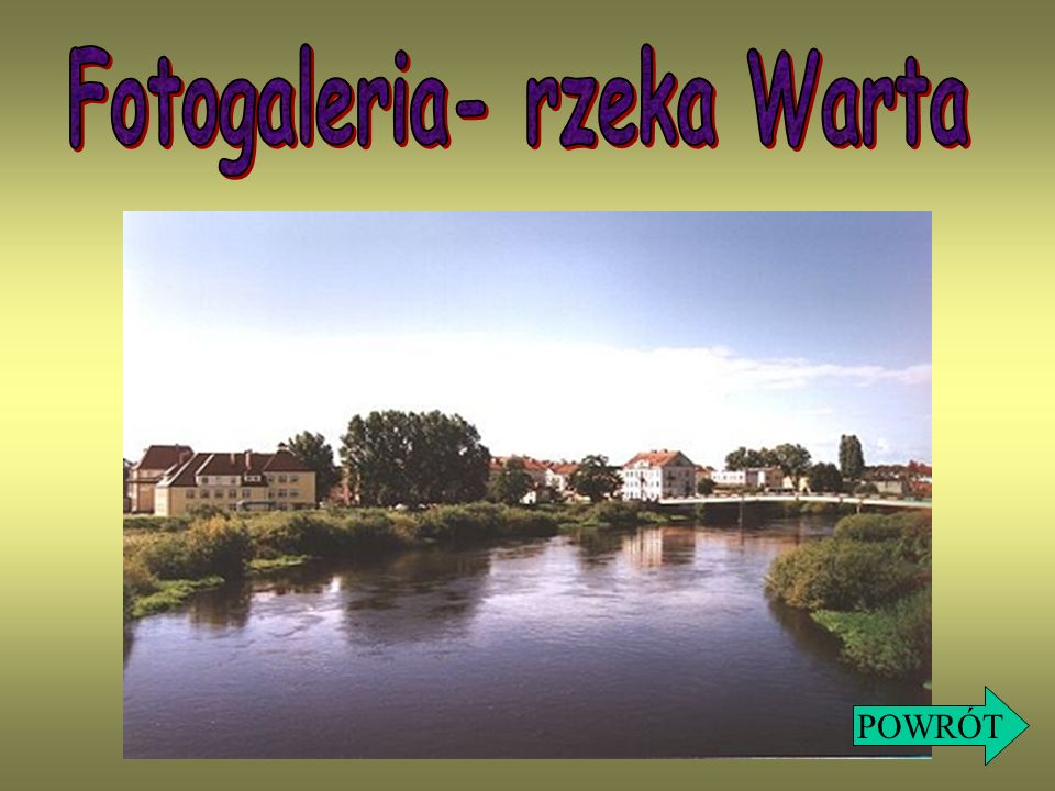 Fotogaleria- rzeka Warta