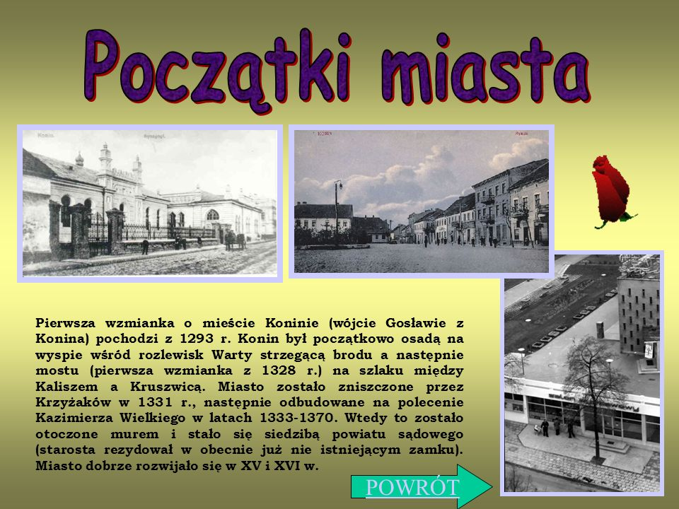 Początki miasta POWRÓT