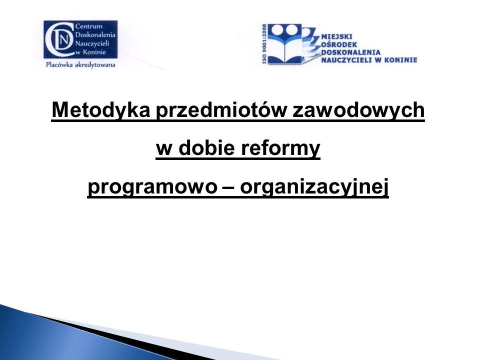 Metodyka przedmiotów zawodowych programowo – organizacyjnej