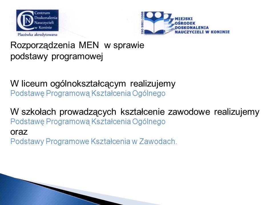 Rozporządzenia MEN w sprawie podstawy programowej