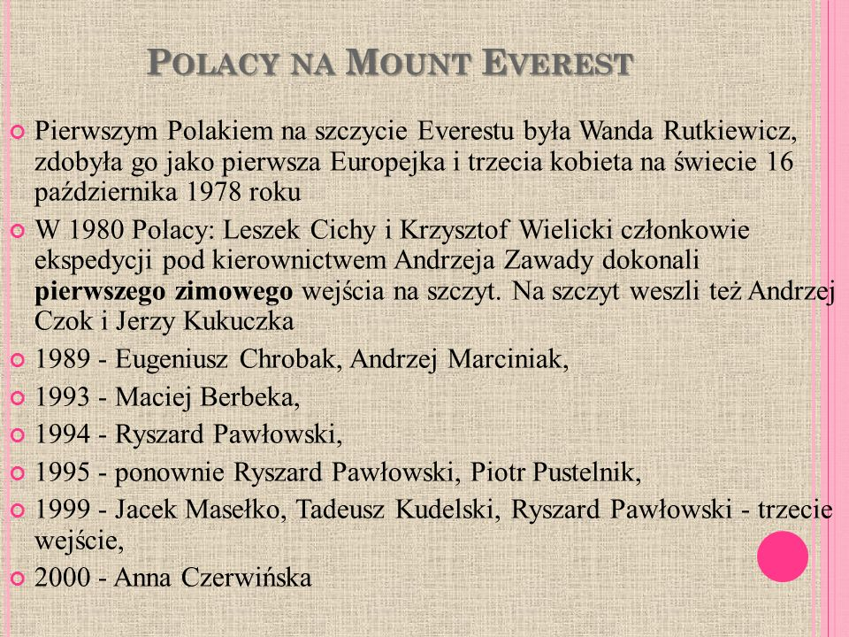 Polacy na Mount Everest