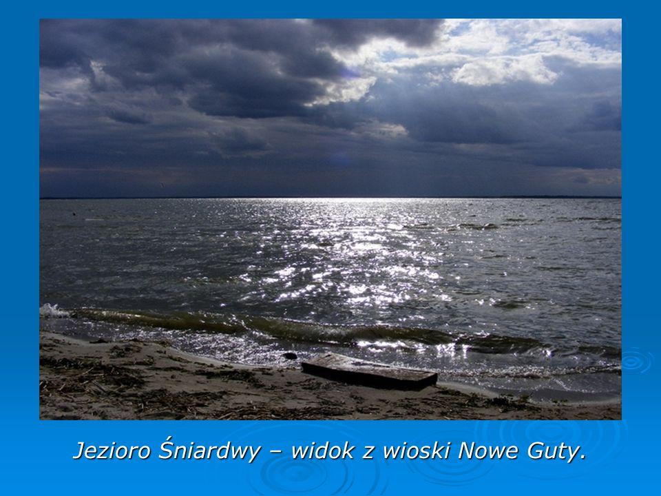 Jezioro Śniardwy – widok z wioski Nowe Guty.