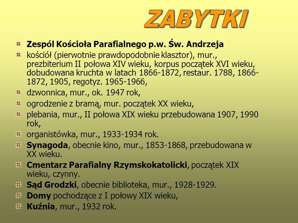 ZABYTKI Zespól Kościoła Parafialnego p.w. Św. Andrzeja