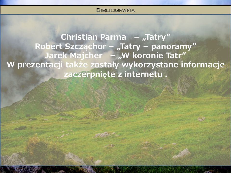 "Christian Parma – ""Tatry Robert Szcząchor – ""Tatry – panoramy"