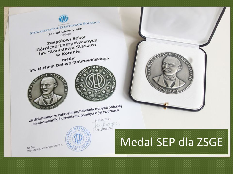 Medal SEP dla ZSGE