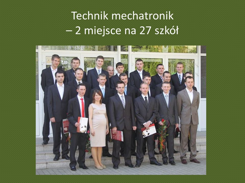 Technik mechatronik – 2 miejsce na 27 szkół