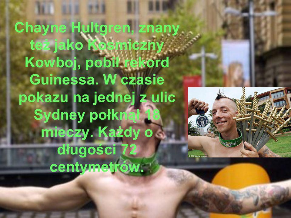 Chayne Hultgren, znany też jako Kosmiczny Kowboj, pobił rekord Guinessa.