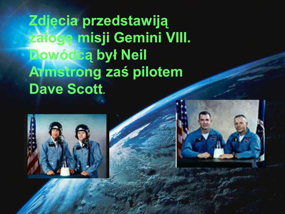 Zdjęcia przedstawiją załogę misji Gemini VIII