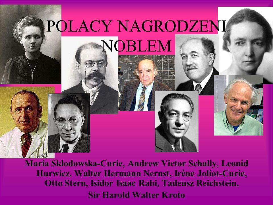 POLACY NAGRODZENI NOBLEM
