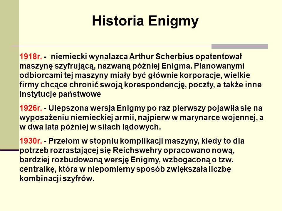 Historia Enigmy