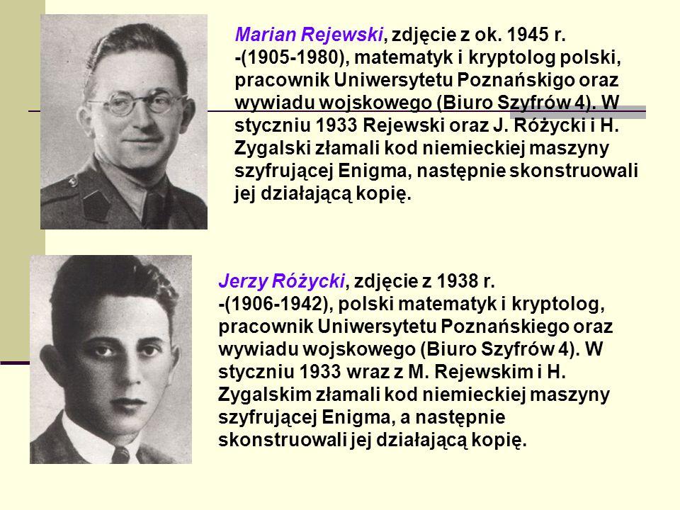 Marian Rejewski, zdjęcie z ok. 1945 r