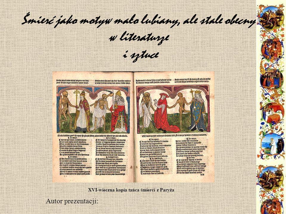XVI-wieczna kopia tańca śmierci z Paryża