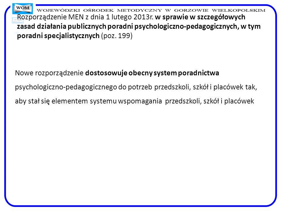 Rozporządzenie MEN z dnia 1 lutego 2013r