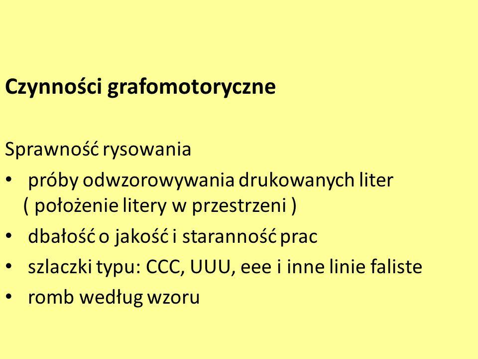 Czynności grafomotoryczne