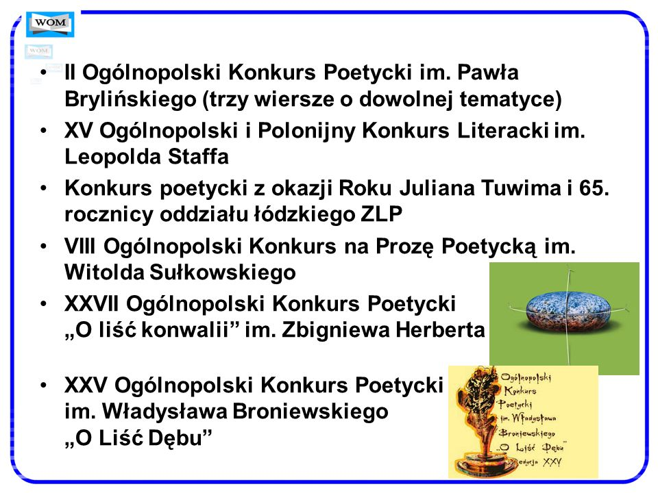 II Ogólnopolski Konkurs Poetycki im