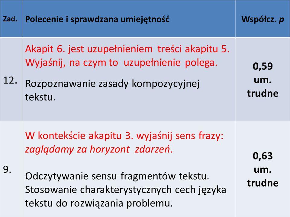 Rozpoznawanie zasady kompozycyjnej tekstu. 0,59 um. trudne
