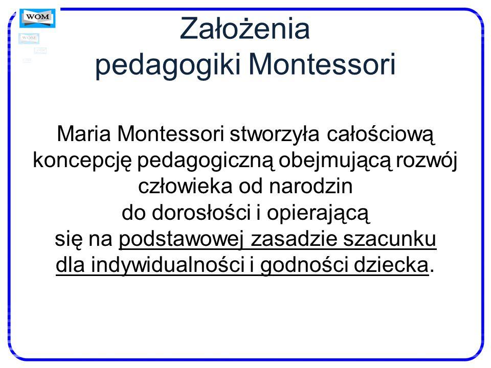 Założenia pedagogiki Montessori